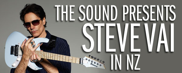 The Sound presents Steve Vai in New Zealand - The Sound is proud to present virtuoso guitarist and visionary composer STEVE VAI when he embarks on a headline theatre ...