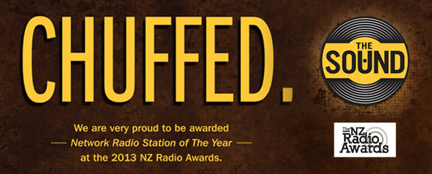 The Sound wins Network Radio Station of the Year! - We are very proud to be awarded Network Radio Station of The Year at the 2013 NZ Radio Awards. A huge thanks to everyone...