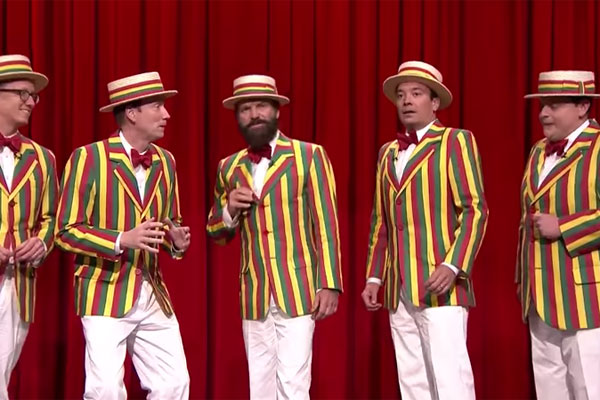 Sting Joins Jimmy Fallon's Barbershop Quartet