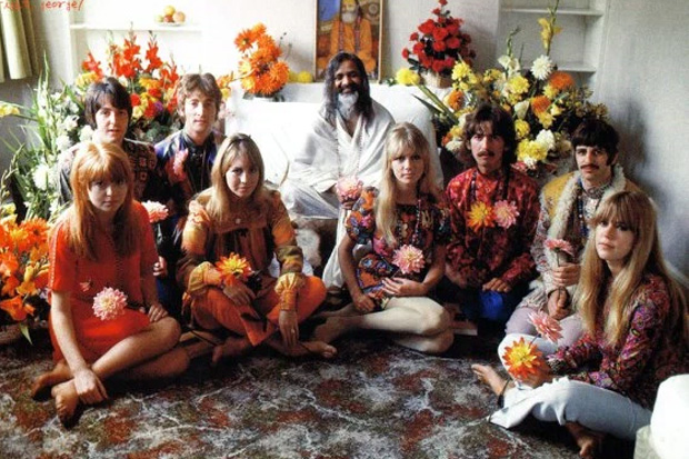The Beatles meet with the Maharishi Mahesh Yogi in 1968