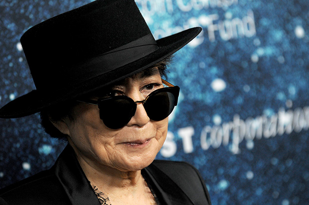 Yoko Ono creates largest human peace sign in honor of John Lennon's 75th Birthday