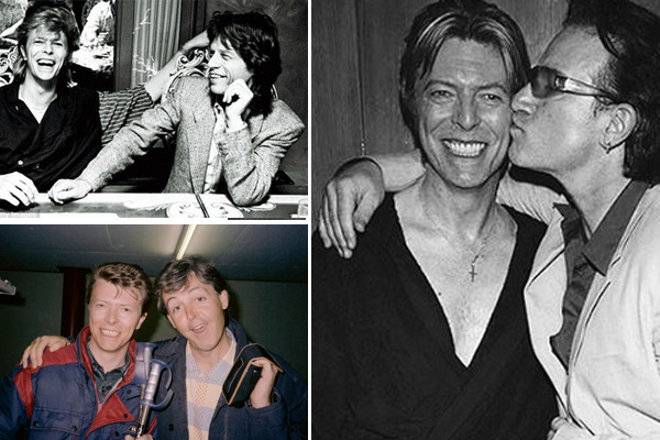 Friends of David Bowie share tributes to the late star via Twitter