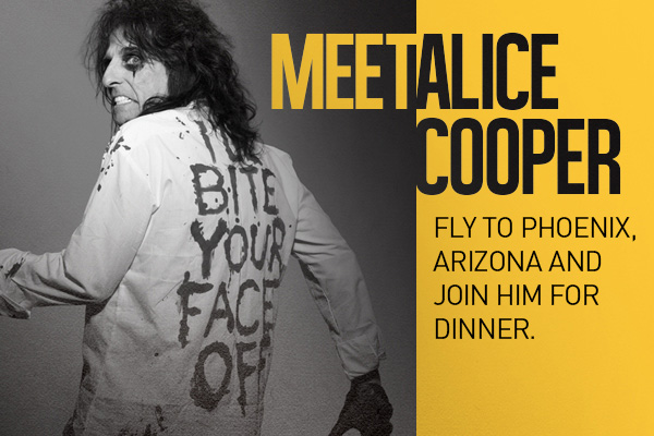 Win Dinner with Alice Cooper in Phoenix plus 3 Nights in Hawaii on The Morning Sound's School of Rock