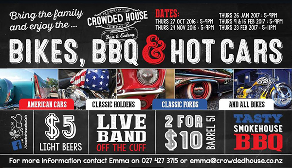 Bikes, BBQ & Hot Cars with The Sound and Crowded House