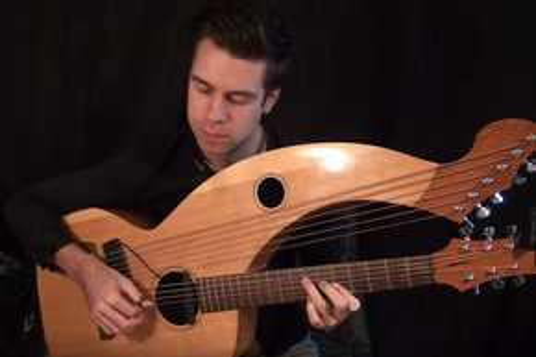 Amazing harp guitar cover of 'Hotel California'