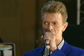 David Bowie and Annie Lennox rehearse 'Under Pressure' in 1992