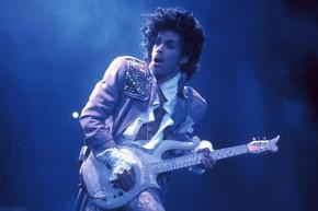 Christmas lights tribute to Prince