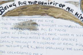 Elvis Presley's guitar and John Lennon's handwritten lyrics sold at auction