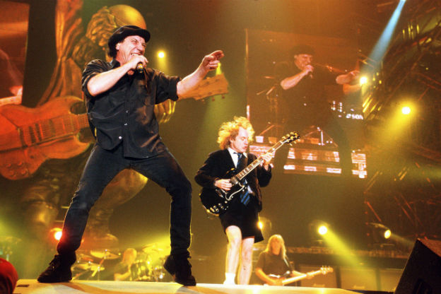 Hear Axl Rose practicing with AC/DC