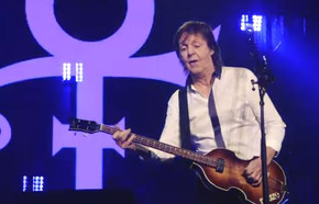 Paul McCartney performs tribute to Prince in his hometown