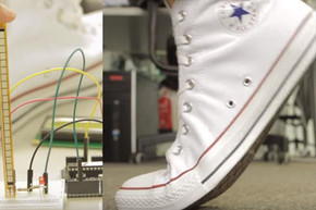 Converse release shoe with built in wah pedal