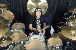 12 year old performs amazing drum cover of Journey and more
