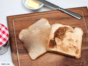 Piece of toast with image of Stephen Donald on it goes to auction on Trademe