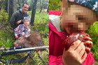 Proud dad of deer heart-eating girl unfazed by haters