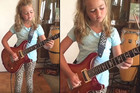 10 year old plays Thundestruck by AC/DC