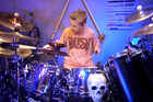 If ZZ Top ever need a drummer - call this kid!