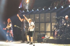 WATCH: Angus Young salutes Cliff Williams at his last AC/DC show