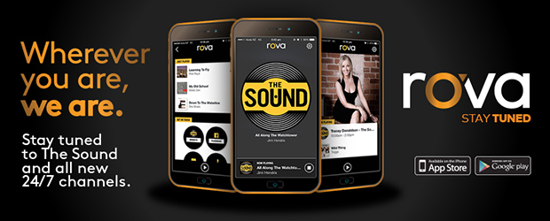 Listen to the Sound on the new rova app - Today MediaWorks launched a brand new app, rova which means you can listen to The Sound on a new app.